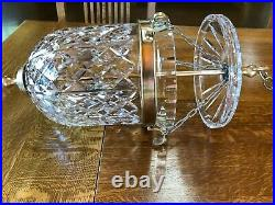 Waterford Crystal & Brass Chandelier Bell-Shaped Pendant Style, Orig. Owner