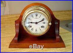 Wempe Chronometerwerke Ship's Bell Clock Runs Strong Hamburg