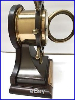 Working Vintage 1963 Maritime Brass Chelsea Mariner Ships Bell Mantel Clock