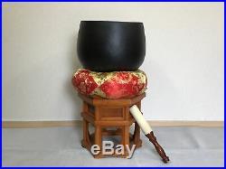 Y1203 ORIN diameter 39cm stand Japanese Buddhist Brass Bell antique vintage