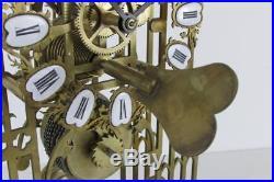 YORK MINSTER CHAIN FUSEE SKELETON CLOCK good working order VINTAGE bell strike